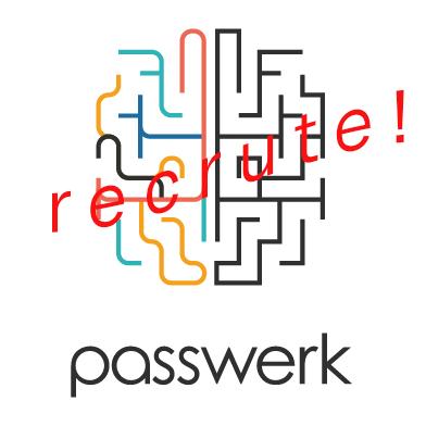 """Logo de Passwerk avec la mention """"recrute"""""""