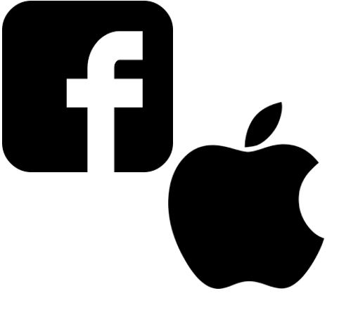 FACEBOOK & APPLE LOGOS