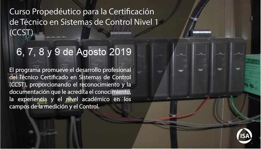 Curso Propedéutico para la Certificación de Técnico en Sistemas de Control Nivel 1 (CCST)