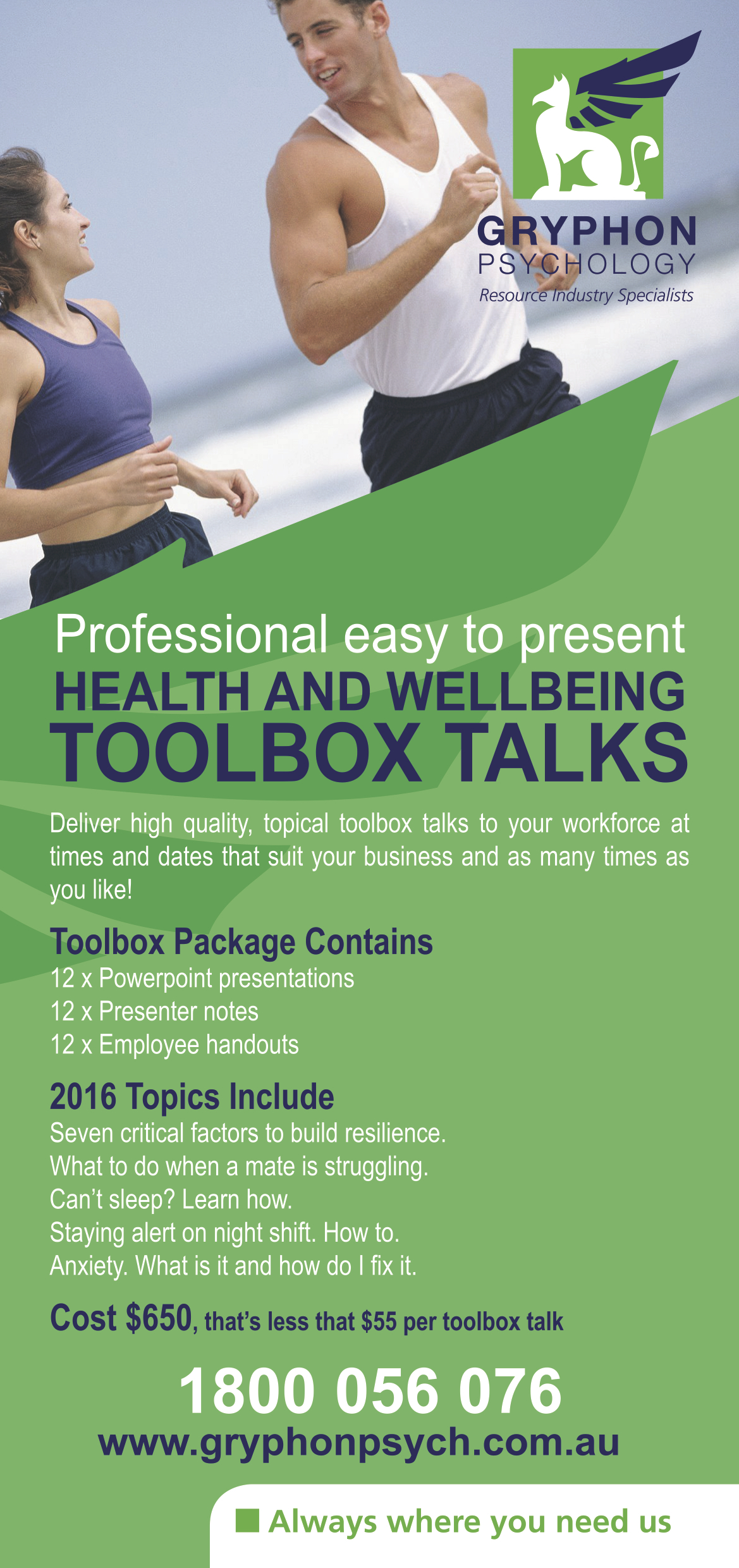 Toolbox Talks Brochure Image