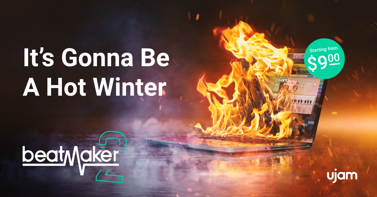 Beatmaker 2 Release Banner Laptop on Fire