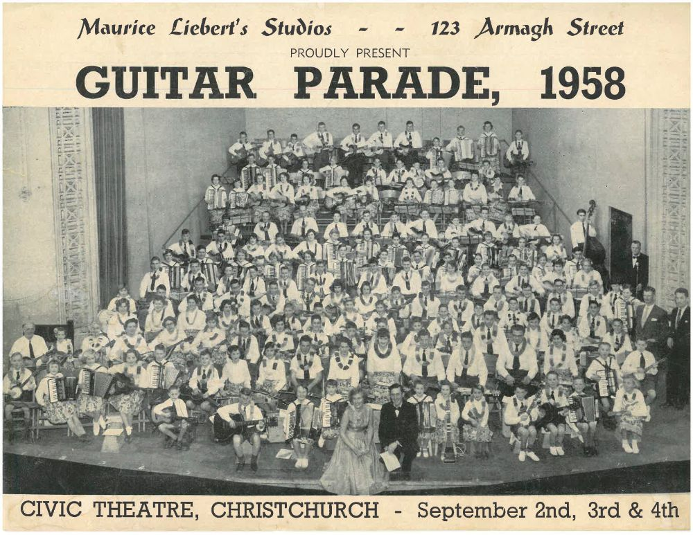 Programme for Guitar Parade, 1958