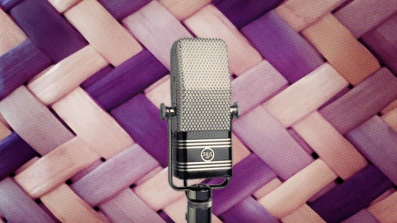 Microphone image for Ngā Taonga Kōrero exhibition