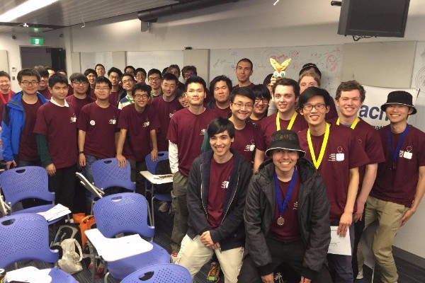 Monash team who had just won the Western Division ICPC Programming Competition
