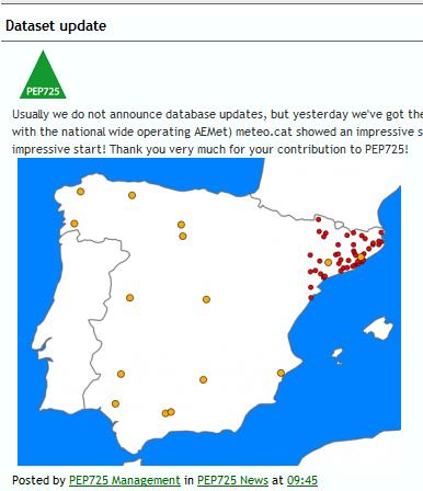 Anomalia de la precipitació anual a Catalunya (1950-2013)