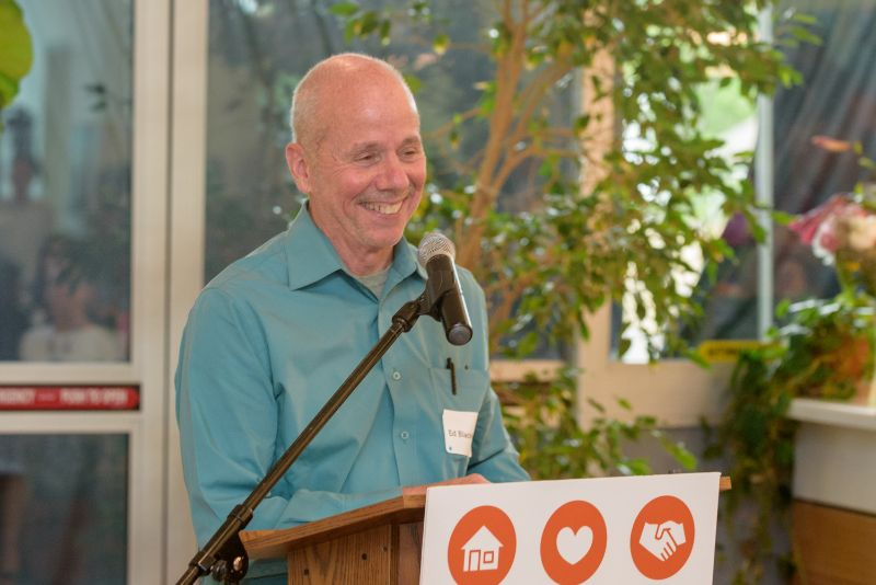 Ed Blackburn, CCC president & CEO emeritus, was instrumental in bringing the six Housing is Health partners together under a common cause.