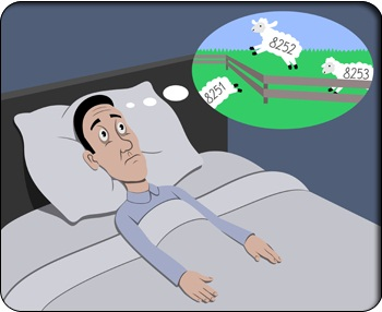 Insomnia and counting sheeps