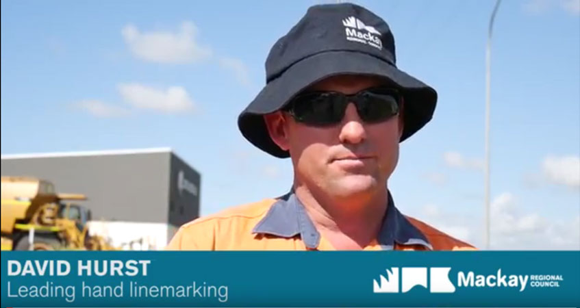 Have you ever come across a council linemarking crew on our roads?