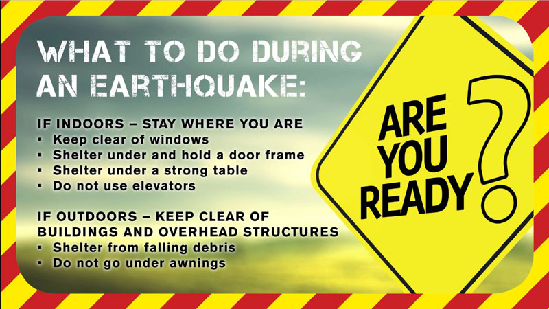 Earthquakes - What to do