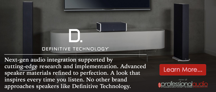 Definitive Technology at Pro Audio