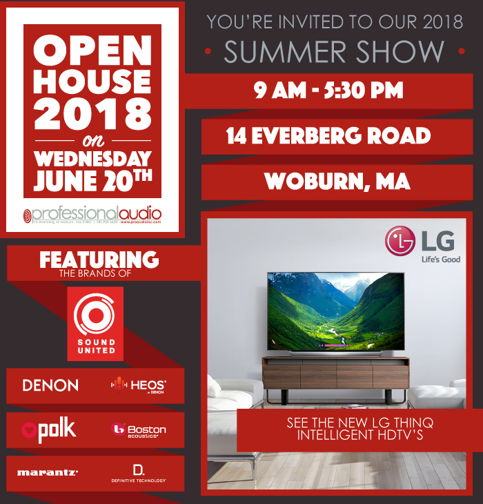 You're Invited to our 2018 Summer Show 9am to 5:30pm, Wed. June 20th, 2018 at 14 Everberg Road Woburn, MA.