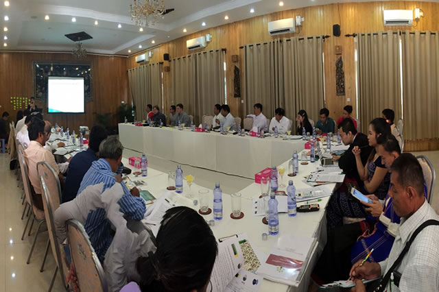 The Hpaan workshop was the first of a series of joint workshops by PeaceNexus Foundation, the Myanmar Centre for Responsible Business (MCRB), and the Kaw Lah Foundation.