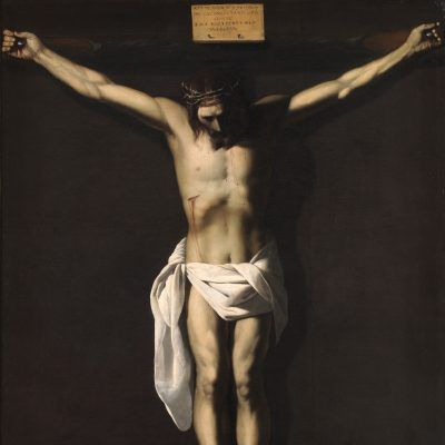 Christ Crucified (with the Donor), Francisco de Zurbarán, 1640