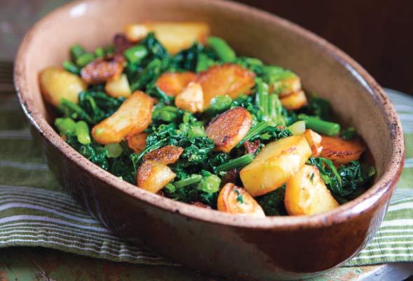 broccoli rabe with potatoes and sausage