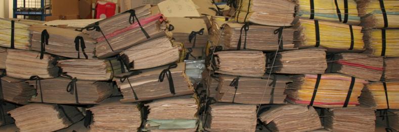 Gebündelte Archivalien