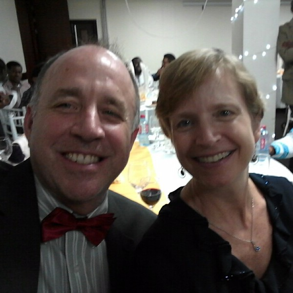 Steve & Suzanne at Ashesi Christmas Party