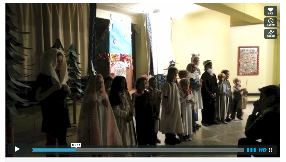 Kids Institute sings the Benediction