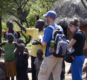 Mike and Macyann visit homes in Pokot