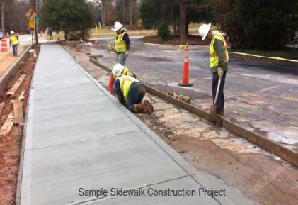 Sample Sidewalk Construction Project