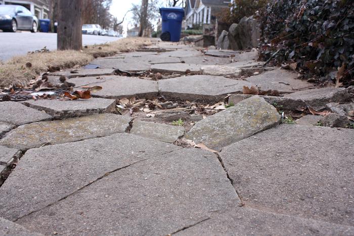 broken sidewalk photo