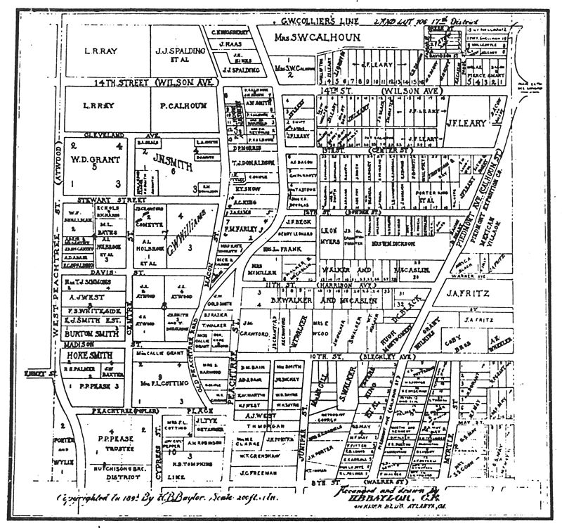 Map of part of Midtown Atlanta, 1895