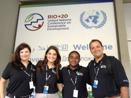 Carrie, Lucia, Shay and Clause attend Rio+20