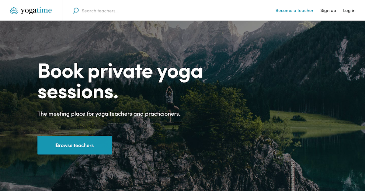 FTW-hourly: Yogatime landing page