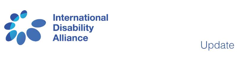 International Disability Alliance - Update