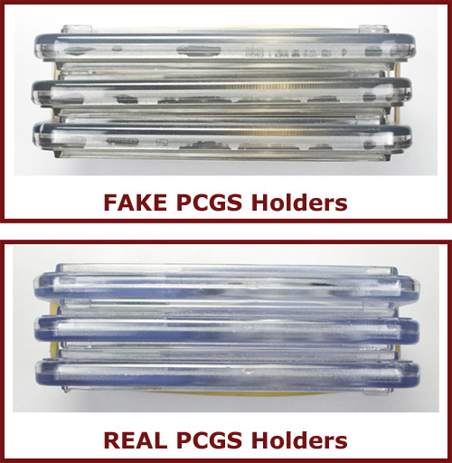 REAL and FAKE PCGS Holders