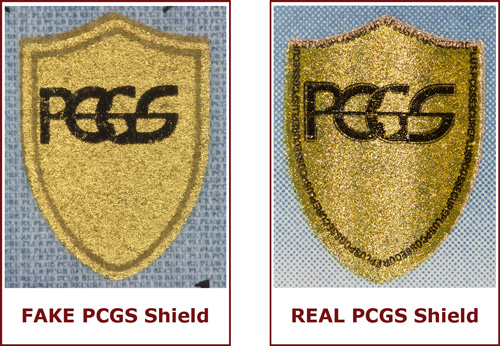 REAL and FAKE PCGS Shields