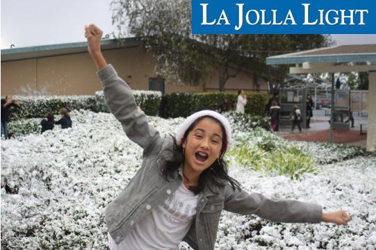 "Happy student in soap ""snow"""