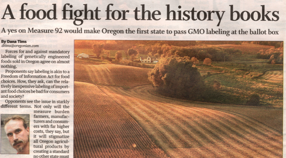 Oregonian Front Page
