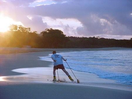 Jesse Crandall skiing in Hawaii