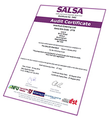 SALSA Certificate