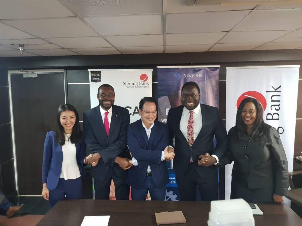 From left: Manrui Tang—COO Binkabi, Abubakar Suleiman—CEO Sterling Bank, Quan Le—CEO Binkabi, Ayodeji Balogun—Country Manager AFEX and Bukola Awosanya—Group Head Agric & Export Finance Sterling Bank