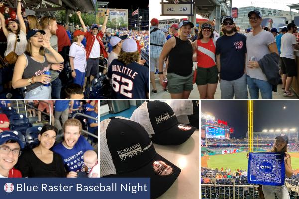 Blue Raster Baseball Night