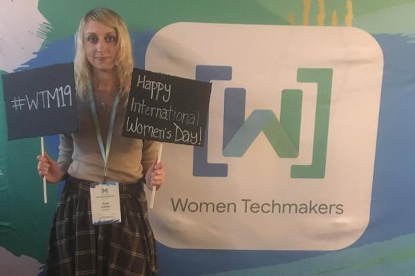 Kayla at Women's Tech Conference