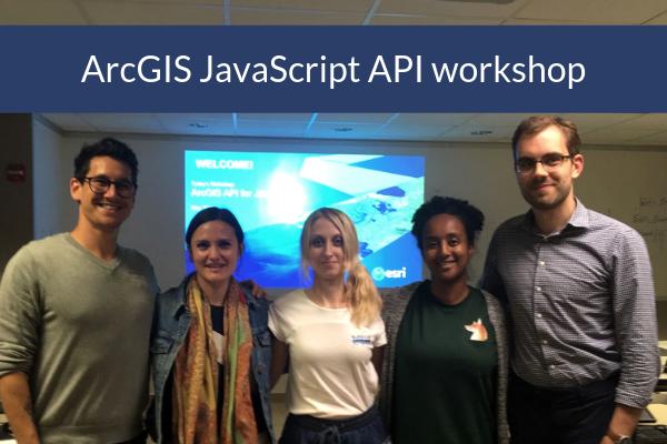 ArcGIS JavaScript API workshop photo