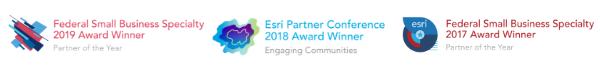 Esri award logos