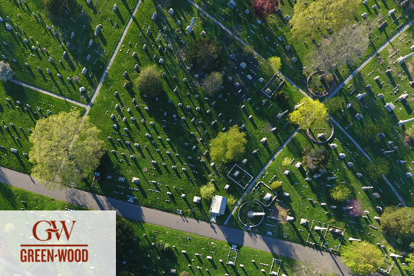 Drones at Green-Wood Cemetery