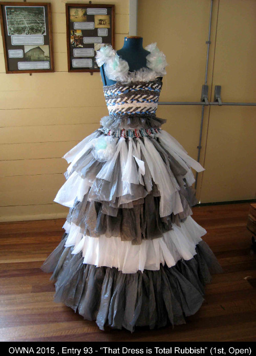 dress made out of waste