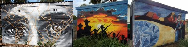 Redhead Primary School's ANZAC murals