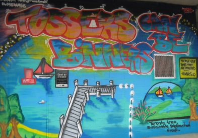 Tossers can be binners mural