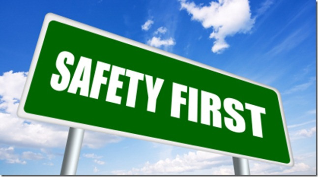 Safety first image