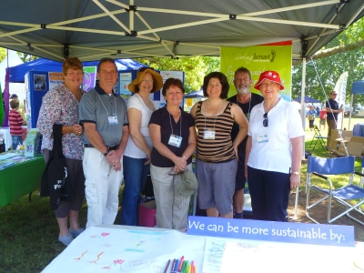 Image of volunteers at previous Living Smart Festival stall