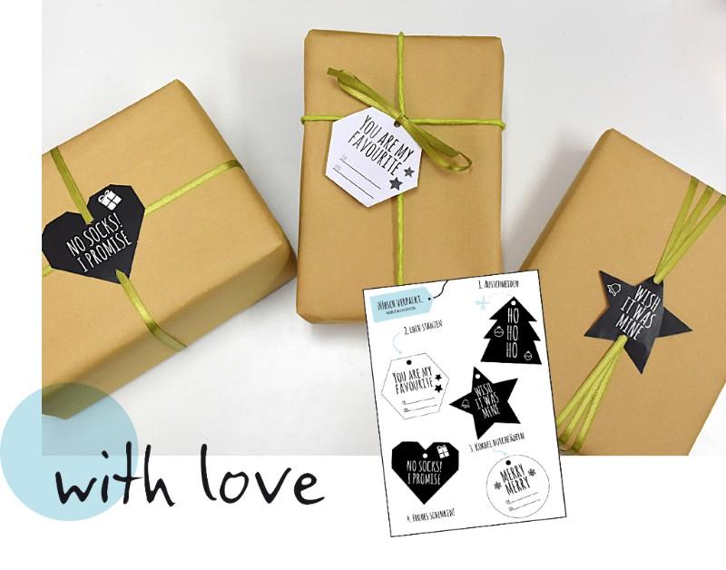 Tags von Wirz & Hafner und verpackte Geschenke