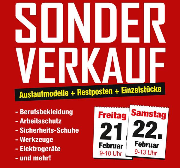 Sonderverkauf bei GEORG in Breitscheid am 21.+22.02.2014