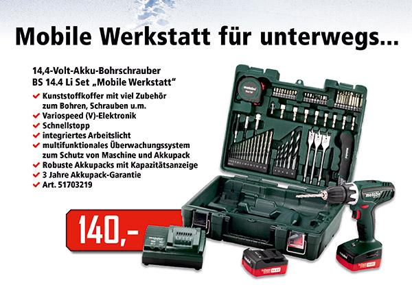 Die mobile Werkstatt für unterwegs...