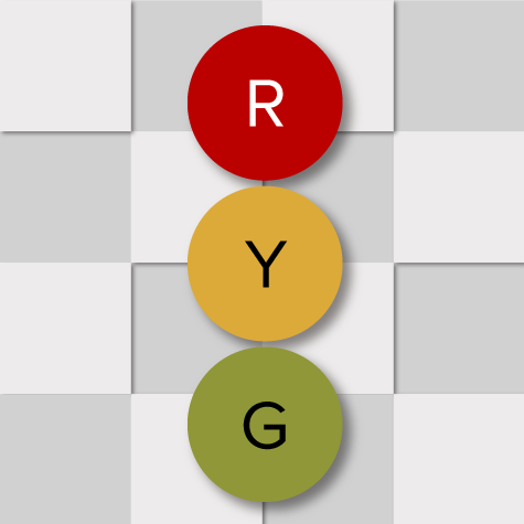 Red, Yellow, Green Status Decorative Graphic