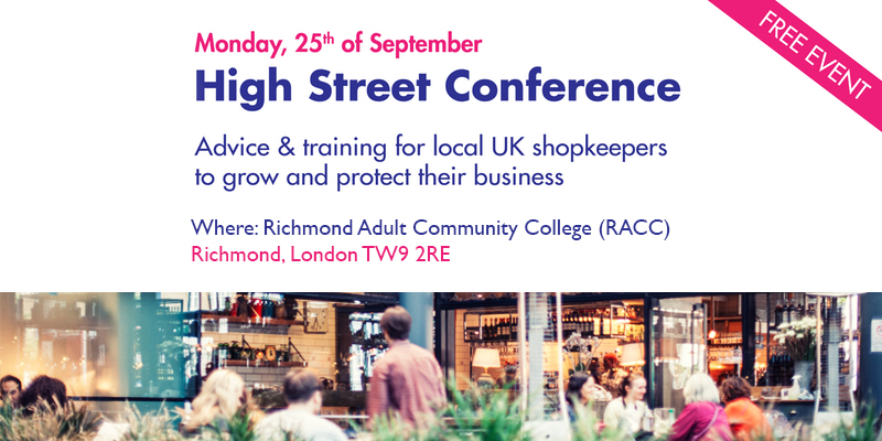 Monday 25th September - High Street Conference - Click Here For More Information - Reserve Your Spot For Free Today!